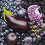 ผักและผลไม้ที่มีสีม่วง